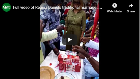 Full video of Regina Daniels marriage | e-nigeria - www.e-nigeriang.com