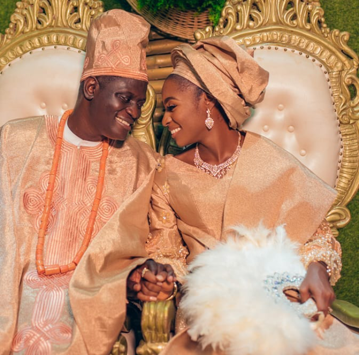 Ngozi Ezenu's daughter, Ogechukwu Edwina Ezeonu on her wedding day | e-nigeriang.com