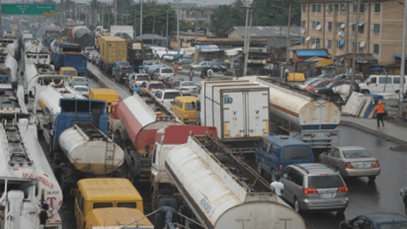 Motorists plying Oshodi/Apapa expressway trapped in traffic for 12hrs
